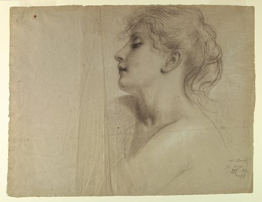 Head and shoulders of a female figure, seen in left profile. Made in: USA. Date: 1870s. Record ID: chndm_1942-50-40.