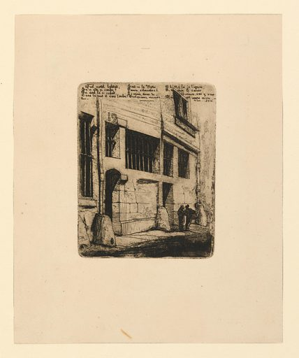 La rue des mauvais garcons. Print maker: Charles Meryon, French, 1821–1868. Date: 1850s. Record ID: chndm_1952-156-25.