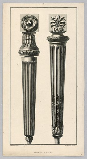 Carved Ornaments for Furniture Legs. Print maker: C. Le Meunnie. Made in: Europe. Date: 1700s. Record ID: chndm_1931-94-527.