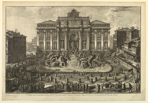 Fountain of Trevi. Made in: Italy. Date: 1770s. Record ID: chndm_1939-9-5.