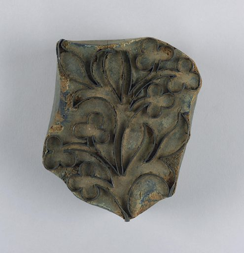 One of twenty-one wood blocks showing a different floral motif formed by metal strips set in wood. Made in: USA. Date: 1820s. Record ID: chndm_1941-87-1-c.
