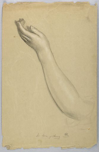 Left hand and forearm outstretched. Verso: Young woman in left profile, walking with arms outstretched. Made in: USA. Date: 1850s. Record ID: chndm_1942-50-111.
