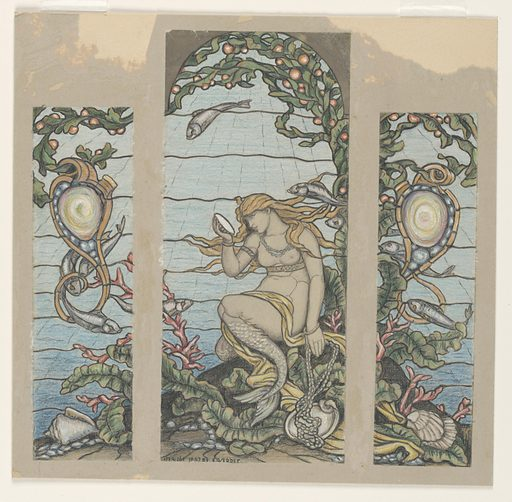 "Study for ""The Mermaid Window,"" A H Barney Residence, New York, NY"