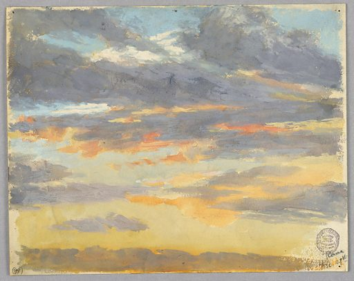Sketch of a sunset and clouds. Made in: Rome, Italy. Date: 1890s. Record ID: chndm_1914-38-14.