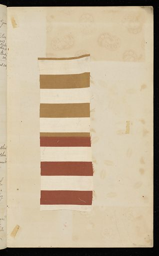 Notebook with 219 swatches of printed cottons with dye recipes. Date: 1880s. Record ID: chndm_1945-55-13.