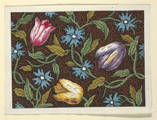 Floral design for printed textiles