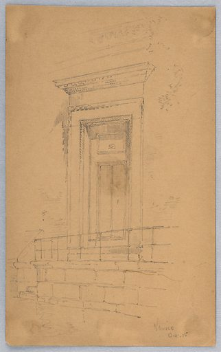 Sketch of door and doorway. Made in: USA. Date: 1880s. Record ID: chndm_1948-47-244.