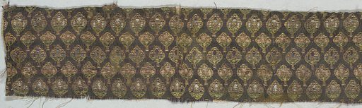 Offset repeat of tightly arranged vegetal or floral forms. Made in: Iran. Date: 1700s. Record ID: chndm_1974-101-18.