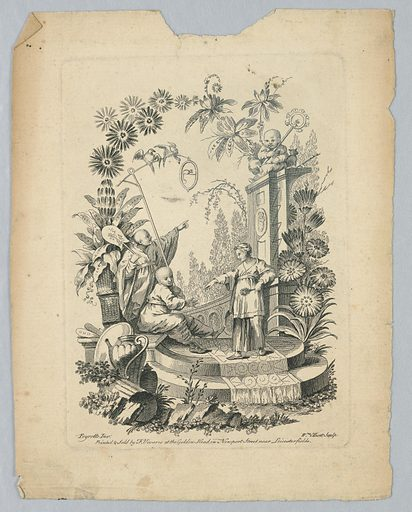 Cartouche with Chinoiserie Motifs. Print maker: William Elliott, English, 1727 – 1766. Made in: France. Date: 1740s. Record ID: chndm_1931-94-666.