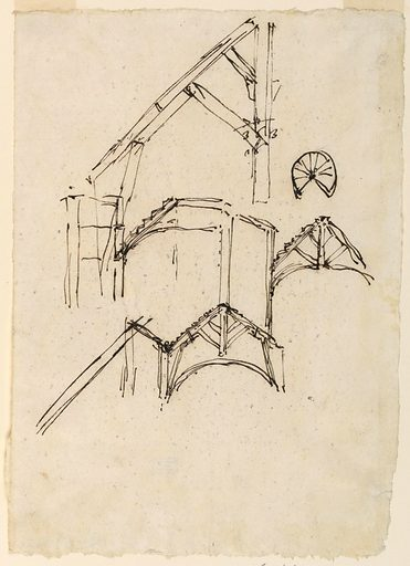 """A few figures are written over a part of the design, top left. The plan is at the top right. On verso, left top corner, is written """"83"""". Made in: Rome, Italy. Date: 1820s. Record ID: chndm_1938-88-1160."""