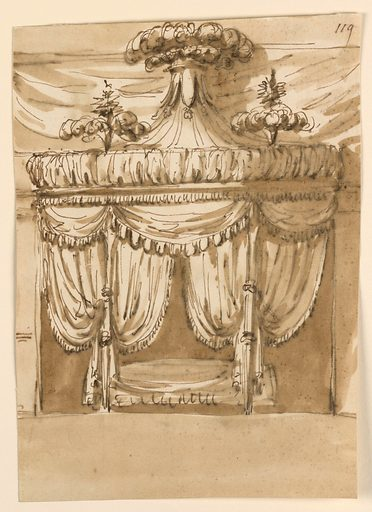 Elevation of a Bed Alcove. Made in: Rome, Italy. Date: 1800s. Record ID: chndm_1938-88-1649.