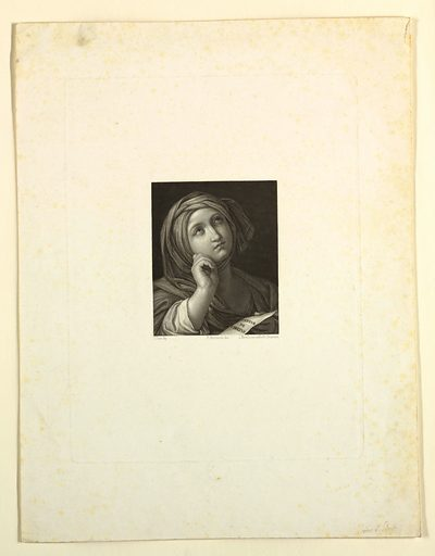 A Muse. Print maker: L. Merello. Made in: Europe. Record ID: chndm_1957-41-17.