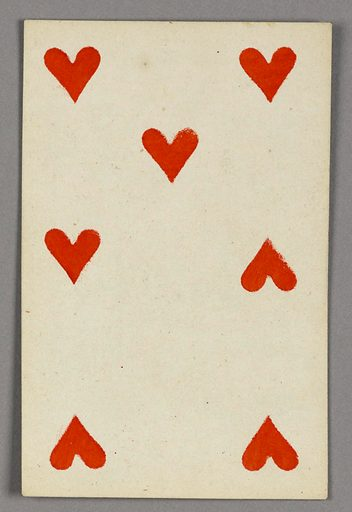 "Seven of Hearts from Set of ""Jeu Imperial–Second Empire–Napoleon III"" Playing Cards. Made in: Paris, France. Date: 1850s. Record ID: chndm_1961-105-63-36."