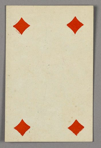 "Four of Diamonds from Set of ""Jeu Imperial–Second Empire–Napoleon III"" Playing Cards. Made in: Paris, France. Date: 1850s. Record ID: chndm_1961-105-63-46."