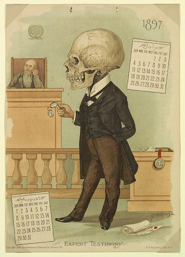 The Antikamnia Calendar, July and August, 1897: Expert Testimony