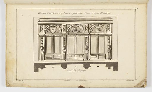 Designs for interior decorations and furnishings. Print maker: Pierre Gabriel Berthault, French, ca. 1748 – ca. 1819. Made in: Europe. Date: 1770s. Record ID: chndm_1931-94-618.