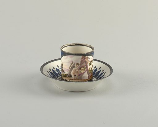 Cup and Saucer with Friendship Theme. Date: 1800s. Record ID: chndm_1953-17-34-a_b.