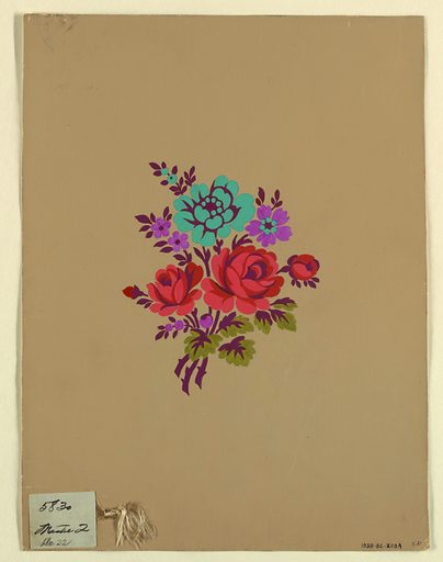 Polychrome floral group c. Made in: France. Date: 1910s. Record ID: chndm_1938-82-229-a.