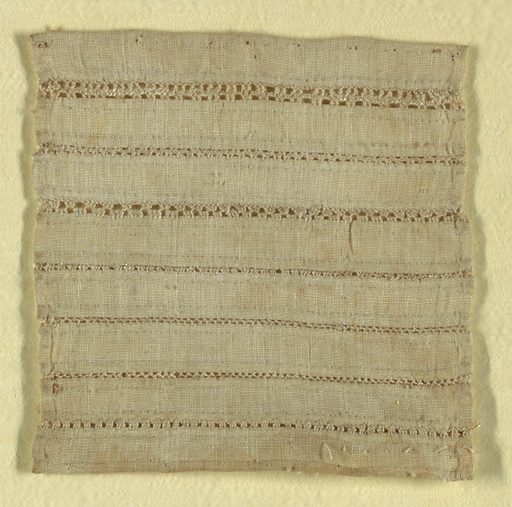 "Sampler showing seven patterns for joining fabrics by ""open seams."". Made in: Germany. Date: 1700s. Record ID: chndm_1941-69-68-b."