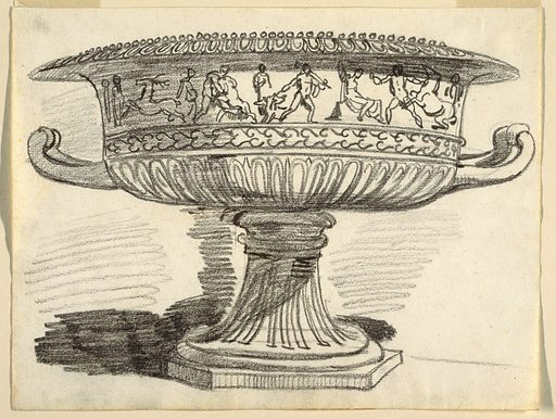 Krater with a frieze of classical nudes. Made in: Italy. Date: 1800s. Record ID: chndm_1901-39-462.