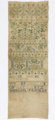 Sampler. Made in: England. Date: 1690s. Record ID: chndm_1941-69-95.