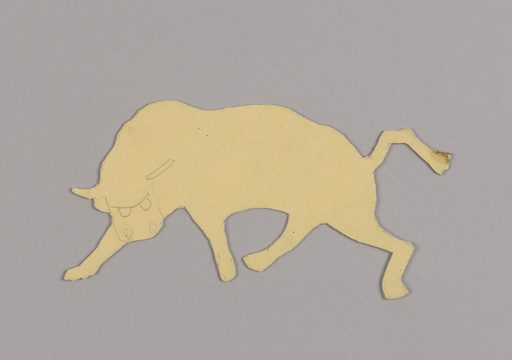 Paper doll of a bull. Made in: USA. Date: 1920s. Record ID: chndm_1968-101-30-26.