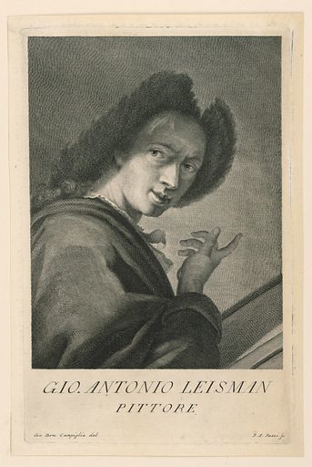 Portrait of Johann A. Lisman. Print maker: Antonio Pazzi, Italian, 1706 – after 1768. Made in: Italy. Date: 1740s. Record ID: chndm_1896-31-72.