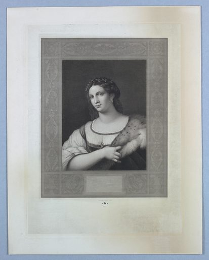 Portrait of a Woman in Fur. Made in: Europe. Date: 1840s. Record ID: chndm_1896-31-97.