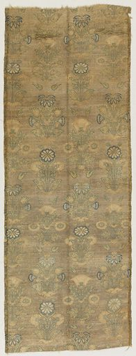 Formal clusters of plants on a metallic ground. Made in: Indo-Persia. Date: 1700s. Record ID: chndm_1899-10-36.