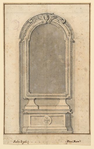The elevation of an altar. Made in: Italy. Date: 1790s. Record ID: chndm_1901-39-2604.