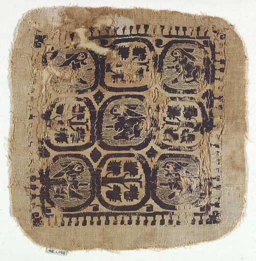 Nine circles containing trees or rabbits. Record ID: chndm_1902-1-198.
