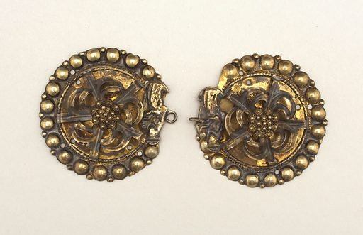 clasp and buckle. Made in: Sweden. Date: 1800s. Record ID: chndm_1908-7-4-a_b.