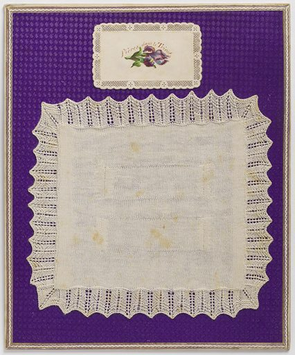 Sewing sample. Made in: France. Date: 1890s. Record ID: chndm_1954-159-7.