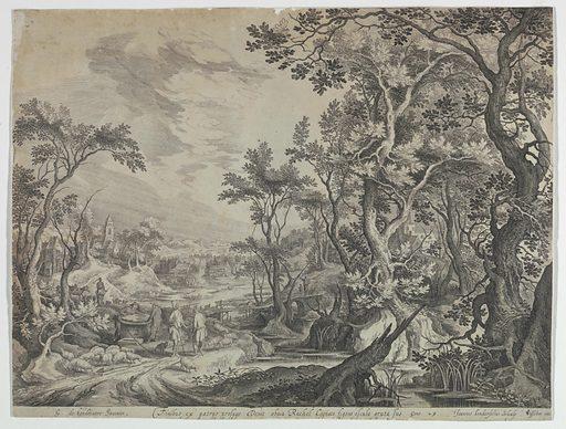 Jacob at the Well. Print makers: Cornelis Visscher, Netherlandish, 1629-1658; Johannes van Londerseel, Flemish, ca. 1570 – ca. 1624. Made in: Netherlands. Date: 1610s. Record ID: chndm_1896-31-10.