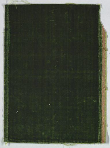 unpattern green velvet. Date: 1700s. Record ID: chndm_1902-1-518.