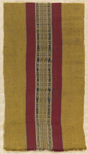 Fragment with vertical stripes. Made in: Morocco. Date: 1800s. Record ID: chndm_1902-1-620.