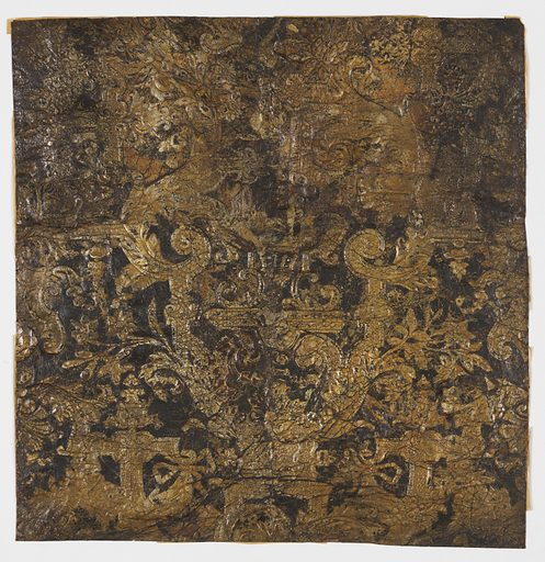 Black field, diapered scrollwork, with sprays of flowers and foliage. Made in: Flanders. Date: 1680s. Record ID: chndm_1903-9-15.