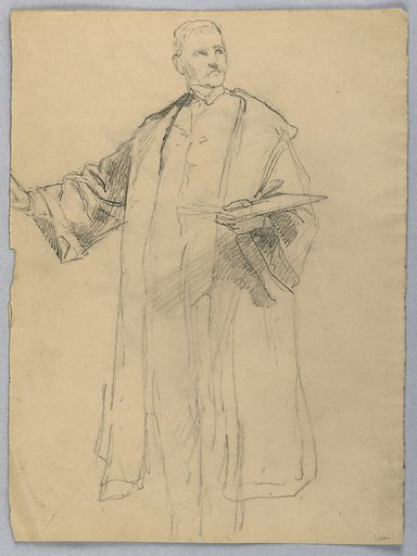 """Study for """"Titian Showing. Made in: USA. Date: 1870s. Record ID: chndm_1942-50-244."""