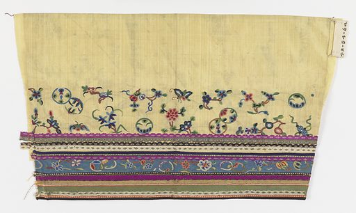 Sleeve cuff. Made in: China. Date: 1700s. Record ID: chndm_1943-54-6-a.
