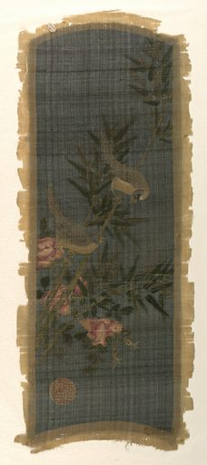 Eight small panels painted with various Chinese scenes on a black ground. Made in: China. Date: 1800s. Record ID: chndm_1960-233-3-a_h.