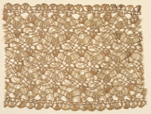 Band with a continuous, dense pattern rendered in a provincial style. Made in: Spain. Date: 1800s. Record ID: chndm_1971-50-453.