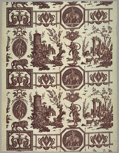 Textile. Made in: Jouy, France. Date: 1800s. Record ID: chndm_1978-140-3.