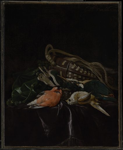 Still Life with Dead Birds and Game Bag. Date: 1674. Culture: Dutch. Object number: 85.PA.236.