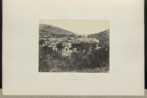 Nablous, the Ancient Shechem. Sinai and Palestine. Date: 1858. Culture: English. Object number: 84.XO.1291.28.