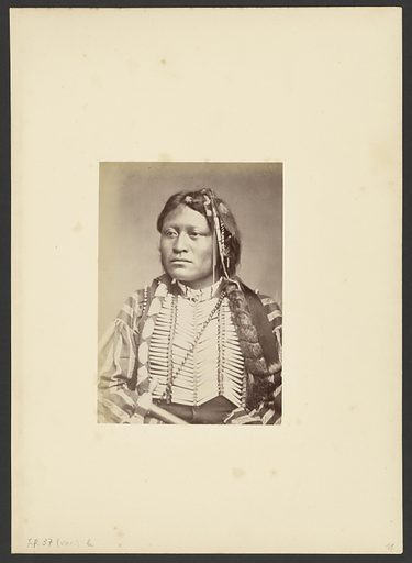 Kiowa-. Apache Chief, Son of the Apache Chief Pacer. Date: 1869–1874. Culture: American. Object number: 84.XM.192.7.