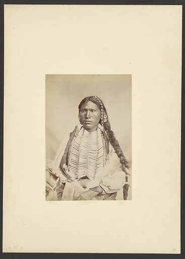 Kiowa Brave in War Dress [probably Koi-khan-hole]. Date: 1869–1874. Culture: American. Object number: 84.XM.192.8.