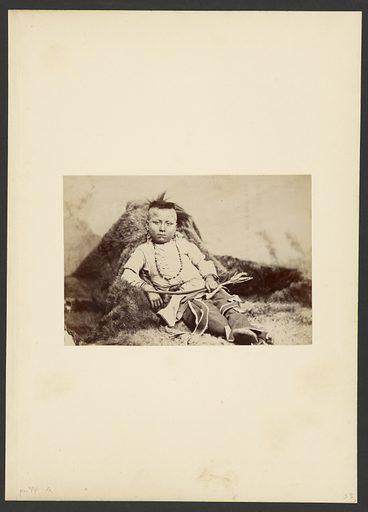 Lone Bear (Tar-lo): Dressed as a Kiowa Boy. Date: 1869–1874. Culture: American. Object number: 84.XM.192.11.