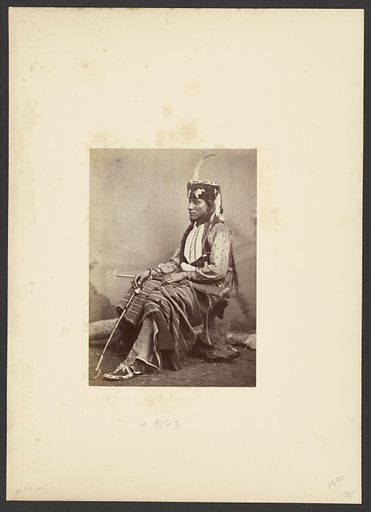 Sitting-in-the-Saddle, or Tau-ankia, Lone wolf's Son. Date: 1872. Culture: American. Object number: 84.XM.192.16.