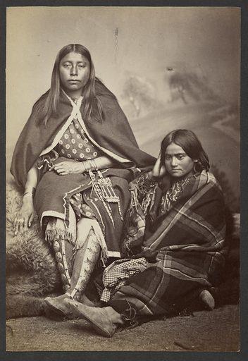 Kiowa Squaws [Including Looking-For-Something-Good (Cha-wa-ke)]. Date: 1869–1874. Culture: American. Object number: 84.XM.192.21.