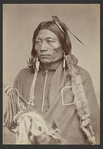 Pacer [Peso, Essa-queta: Kiowa Apache head Chief]. Date: 1869. Culture: American. Object number: 84.XM.192.23.